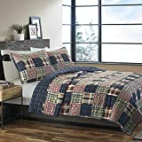 Eddie Bauer | Madrona Collection | 100% Cotton Reversible & Light-Weight Quilt Bedspread With Matching Sham, 2-Piece Bedding Set, Pre-Washed For Extra Comfort, Twin, Plaid