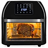 Best Choice Products 16.9qt 1800W 10-in-1 XXXL Family Size Air Fryer Countertop Oven, Rotisserie, Dehydrator w/Digital LED Display, 12 Accessories, 9 Recipes - Black