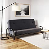 DHP Carson 6 Inch Thermobonded High Density Polyester Fill Futon Mattress, Black