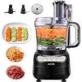 Food Processor, AICOK 12 Cup Vegetable Chopper for Slicing, Shredding, Mincing, and Puree, 4 Speed Food Processor, Powerful Motor, BPA Free