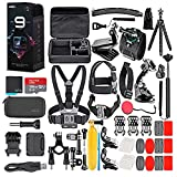 GoPro HERO9 Black - Waterproof Action Camera with Front LCD, Touch Rear Screens, 5K Video, 20MP Photos, 1080p Live Streaming, Stabilization + 128GB Card and 50 Piece Accessory Kit - Action Kit