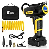 SKEY Air Compressor Tire Inflator - Handheld Electric 150PSI Portable Air Compressor, Cordless Car Tire Pump with Rechargeable Battery,USB Power Cord,Digital Pressure Gauge
