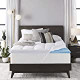 Sleep Innovations 4-inch Dual Layer Gel Memory Foam Enhanced Support, King, Made in the US Mattress Topper