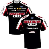 Checkered Flag Brad Keselowski 2021 Discount Tire Sublimated Uniform T-Shirt Black (X-Large)