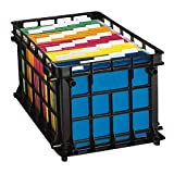 Pendaflex File Crate, Black, 1 Crate (27570)