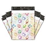 10x13 (100) Gems & Diamonds Designer Poly Mailers Shipping Envelopes Premium Printed Bags