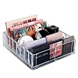 Acrylic Makeup Organizer Compact Makeup Palette Organizer 8 Spaces Makeup Holder Organizer For Vanity Clear Cosmetics Makeup Organizer for Drawers With Removable Dividers