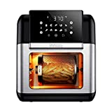 Innsky Air Fryer, 10.6-Quarts Air Oven, Rotisserie Oven, 1500W Electric Air Fryer Oven with LED Digital Touchscreen, 10-in-1 Countertop Oven with Dehydrator & Rotisserie, 6 Accessories & 32+ Recipes