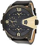Diesel Men's DZ7377 Uber Chief Gunmetal Black Leather Watch