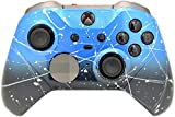 Elite Series 2 Custom Controller for Xbox One, Xbox Series X, and Xbox Series S (Blue & Black Fade W/Silver Splatter)