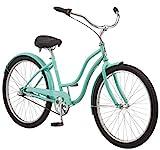 Schwinn Mikko Adult Beach Cruiser Bike, Featuring 17-Inch/Medium Steel Step-Over Frames, 3-Speed Drivetrains, Teal