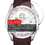 [3 Pack] Synvy Tempered Glass Screen Protector, Compatible with Folli Follie WF1B029SSS-WH 9H Film Smartwatch Smart Watch Protectors