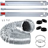 """Wadoy KSTK1 27' Laundry Stacking Kit with 4"""" x 8ft Heavy Duty Clothes Dryer Vent Hose and 4 pcs Washer Antivibration Mat Compatible with LG Washer/Dryer"""