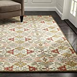 Crate and Barrel Delphine Orange Traditional Persian Handmade 100% Wool Rugs & Carpets (5'x8')