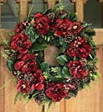 The Wreath Depot Westhaven Winter Wreath, 22 Inches, Stunning Designer Quality Transforms Winter Decor, White Gift Box Included