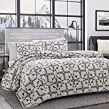 Eddie Bauer Home   Arrowhead Collection   Bedding Set-100% Cotton Light-Weight Quilt Bedspread, Pre-Washed for Extra Comfort, Queen, Charcoal