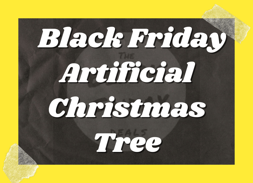 Black Friday Artificial Christmas Tree
