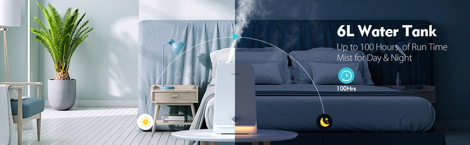 Cool Mist Humidifier 6l