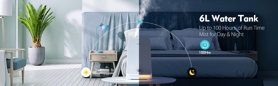 Cool Mist Humidifier 6l