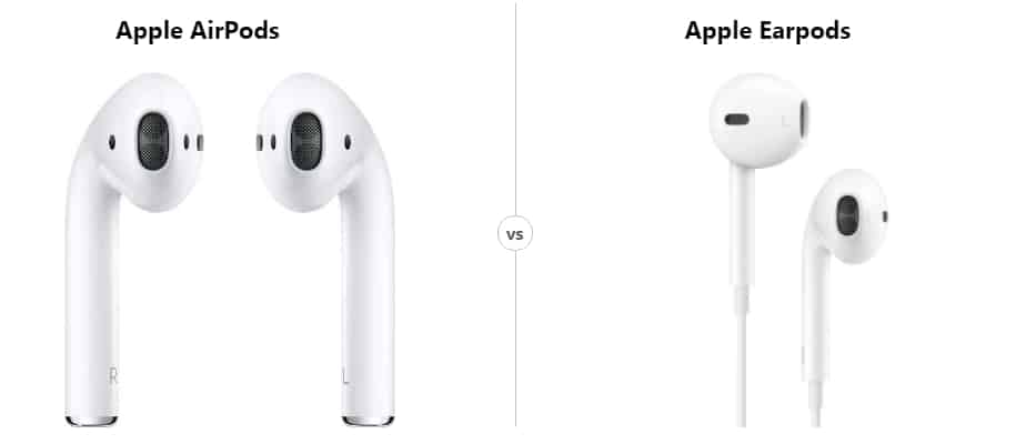 White Apple Airpod Vs Apple Earpod