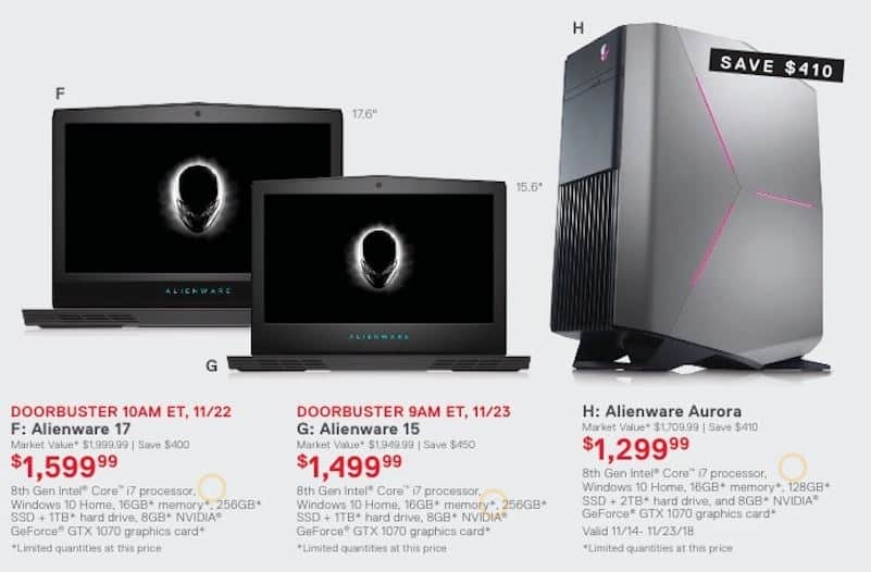 Alienware Black Friday