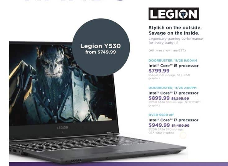 Lenovo Legion Gaming Laptop Black Friday