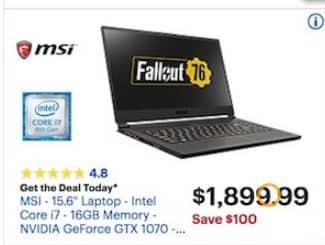 Msi Laptop Best Buy Black Friday