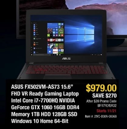 New Egg Gaming Asus Laptop Black Friday Deals