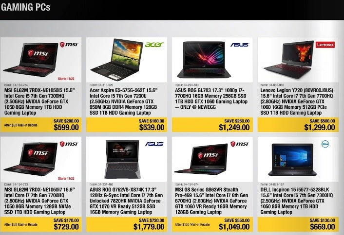New Egg Gaming Laptops Black Friday