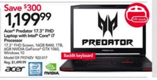 Office Depot Acer Predator Black Friday