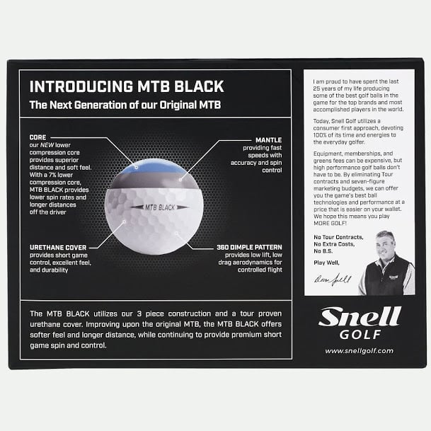 Black Friday Snell Golf Balls Details