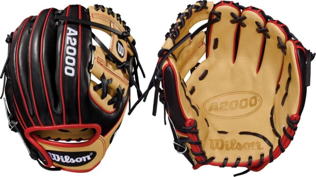 Black Friday A2000 Baseball Gloves Black Blonde Red