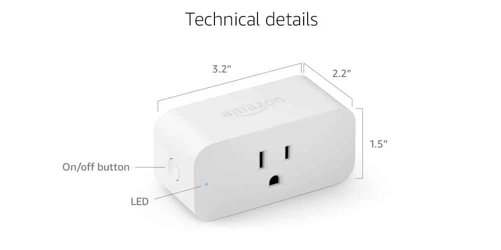 Black Friday Amazon Smart Plug Technical Detail