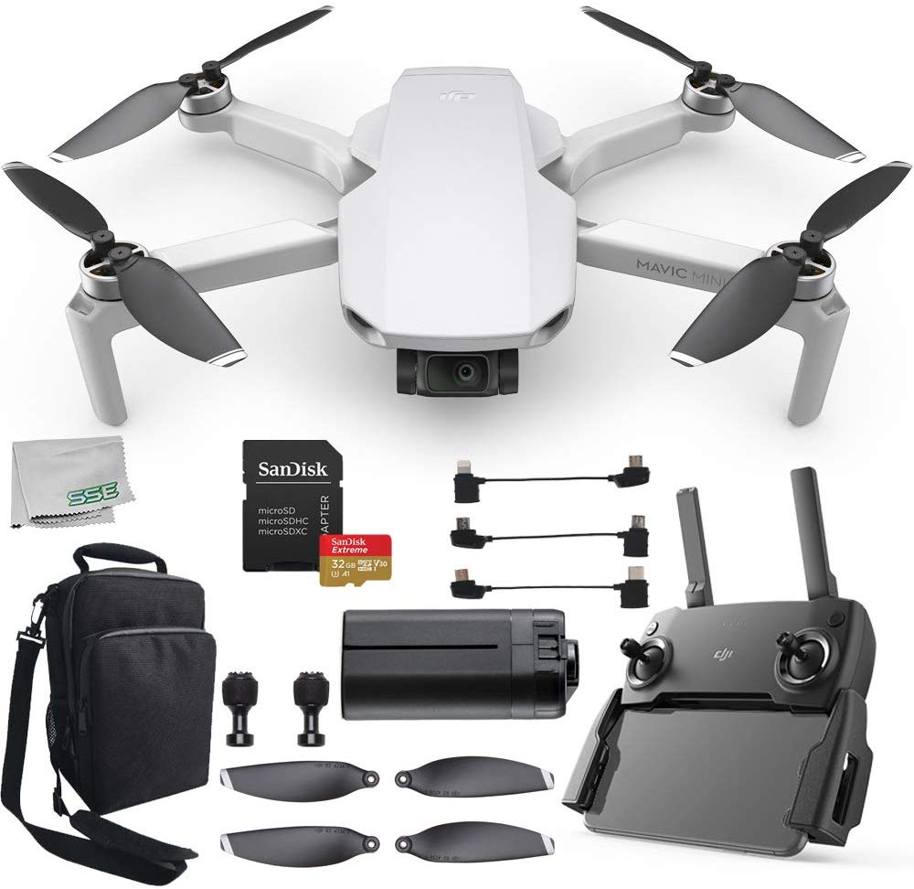 Black Friday Dji Mavic Mini Portable Drone Quadcopter Must Have Bundle