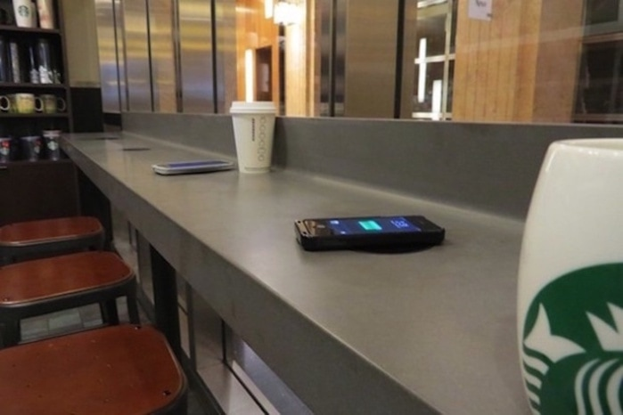 Black Friday Wireless Charger Sample (power Mat At Starbucks)
