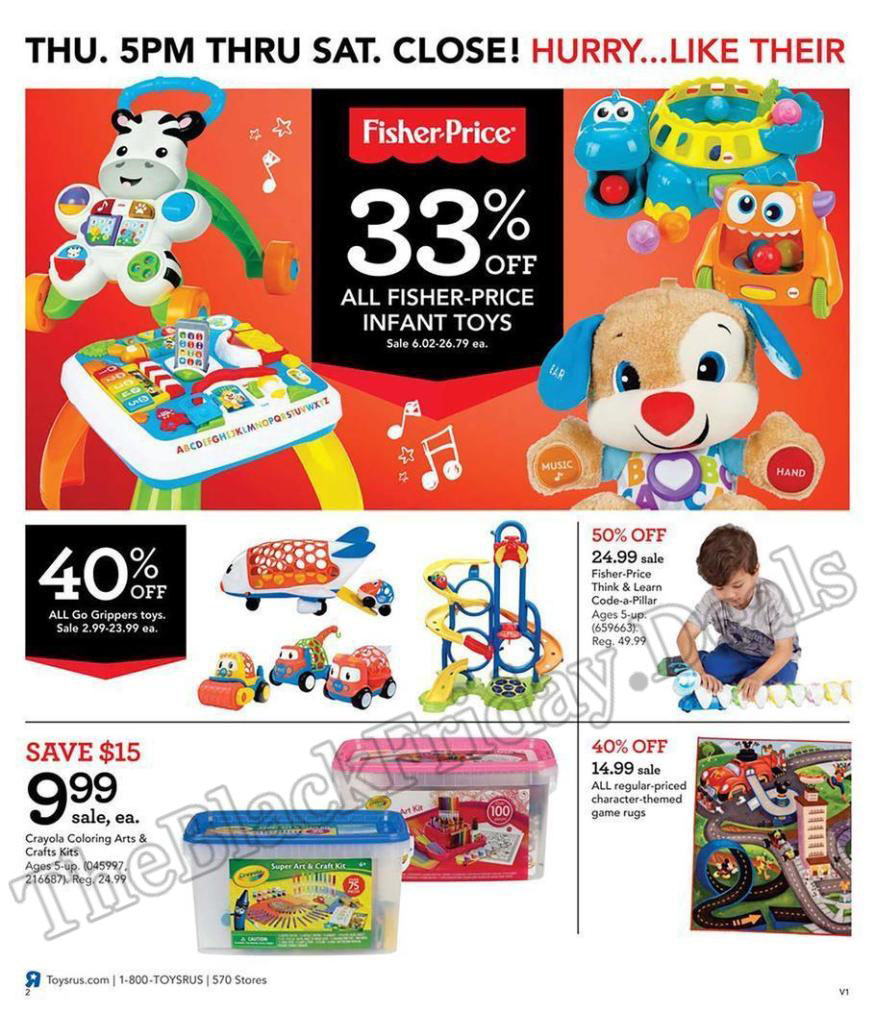 Toys R Us Black Friday Flyer Ads Page