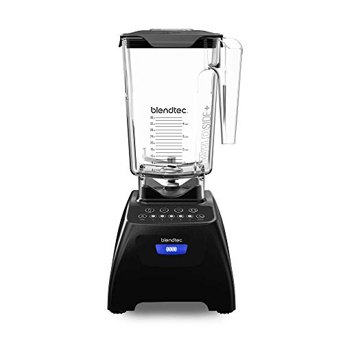 Blendtec Classic 575 Blender Wildside+ Jar (90 Oz) Professional Grade Power Self Cleaning 4 Pre Programmed Cycles 5 Speeds Black (renewed)