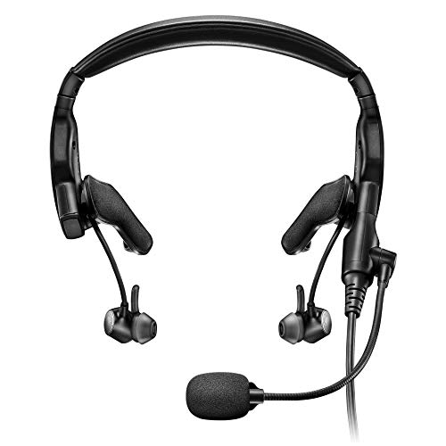 Bose Proflight Series 2 Aviation Headset, Non Bluetooth, Dual Plug Cable, Black