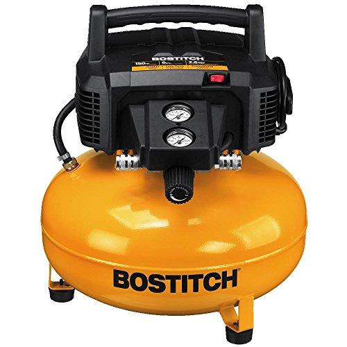 Best Mini Air Compressor Black Friday Deals - Bostitch Pancake Air Compressor, Oil Free, 6 Gallon, 150 Psi (btfp02012)