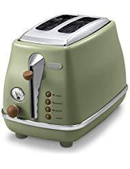 Delonghi Pop Up Toaster「icona Vintage Collection」ctov2003j Gr (olive Green)【japan Domestic Genuine Products】