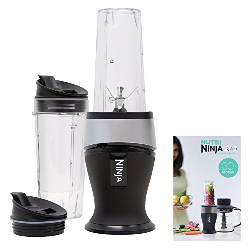 Nutribullet Black Friday - Ninja Personal Blender For Shakes, Smoothies, Food Prep, And Frozen Blending With 700 Watt Base And (2) 16 Ounce Cups With Spout Lids (qb3001ss)