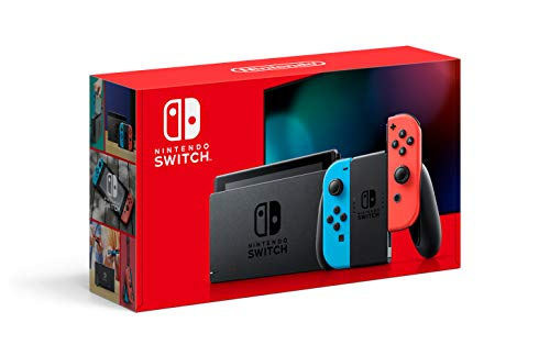 Nintendo Switch Lite Black Friday - Nintendo Switch With Neon Blue And Neon Red Joy‑con Hac 001( 01)