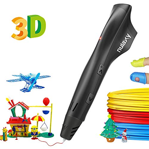 Nulaxy 3d Pen With Pla Filament Refills, Speed & Temperature Adjustment, Non Clogging, 3d Drawing Printer Printing Pen For Kids Girls Boys Adults Birthday Christmas Gifts, Easy To Use