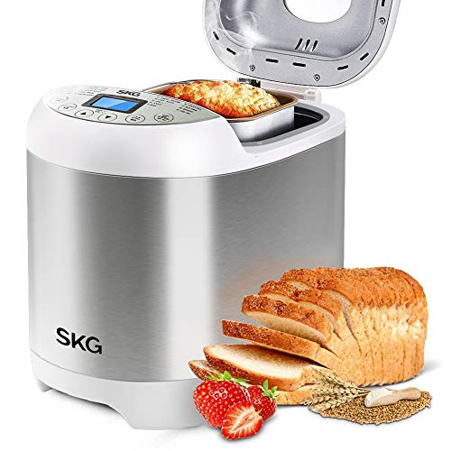 Skg 2lb Automatic Programmable Bread Machine Multifunctional Bread Maker Silver