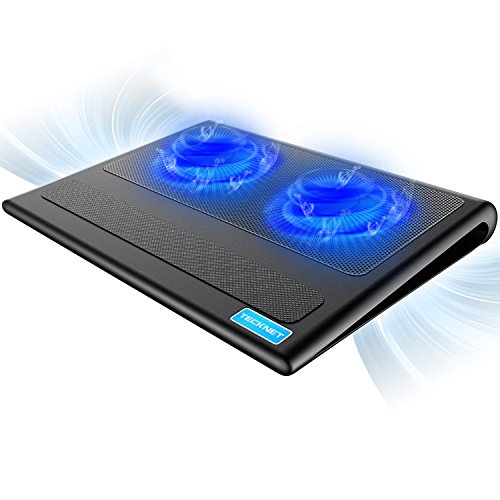 Tecknet Laptop Cooling Pad, Portable Ultra Slim Quiet Laptop Notebook Cooler Cooling Pad Stand With 2 Usb Powered Fans, Fits 12 16 Inches