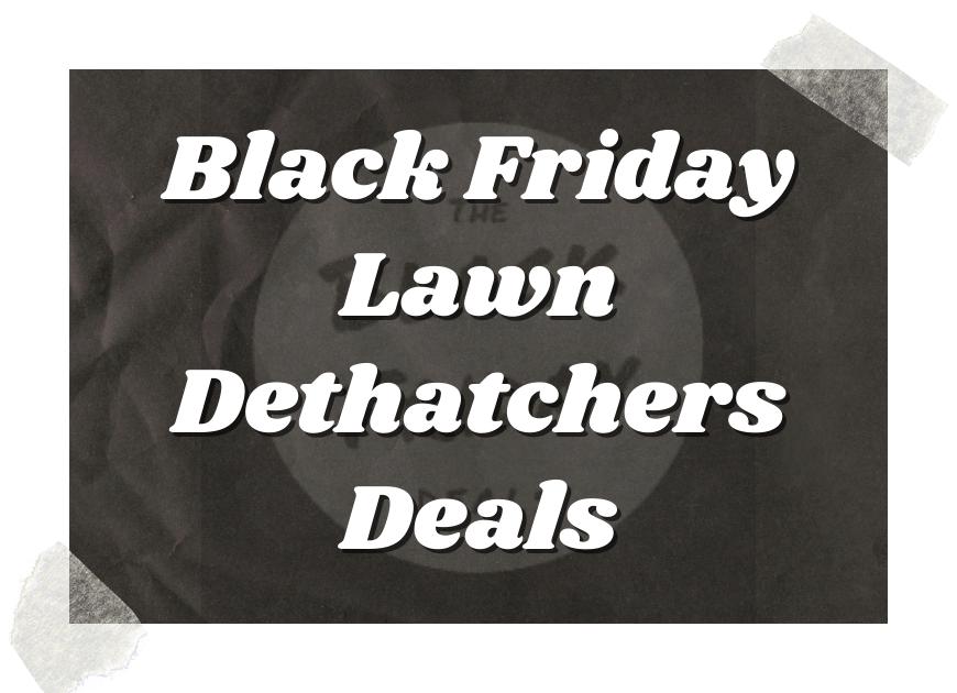Black Friday Lawn Dethatchers Deals