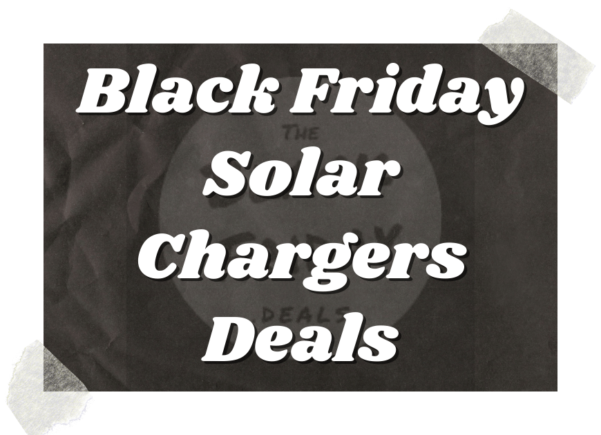 Black Friday Solar Chargers Deals