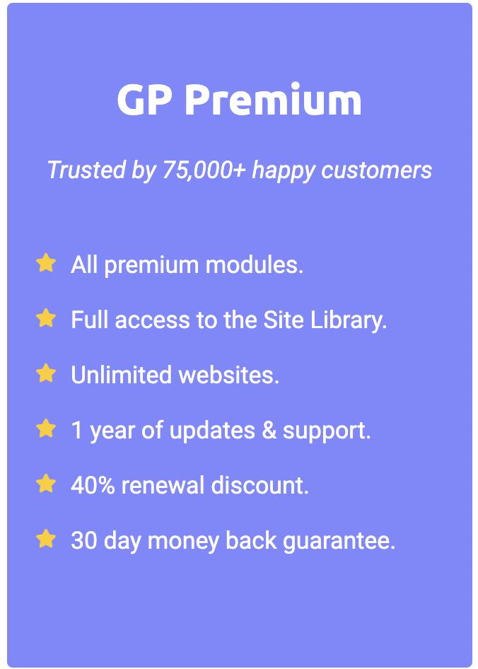 Generatepress Pricing And Plan
